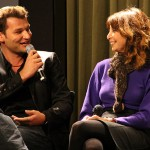 Christian Magdu shares stories and anecdotes from the shoot of EASY TO ASSEMBLE Season 3, with show creator Illeana Douglas, at the Screen Actors Guild Foundation Q&A in Los Angeles, 2011