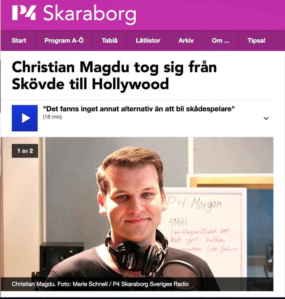Christian tog sig från Skövde till Hollywood P4 1